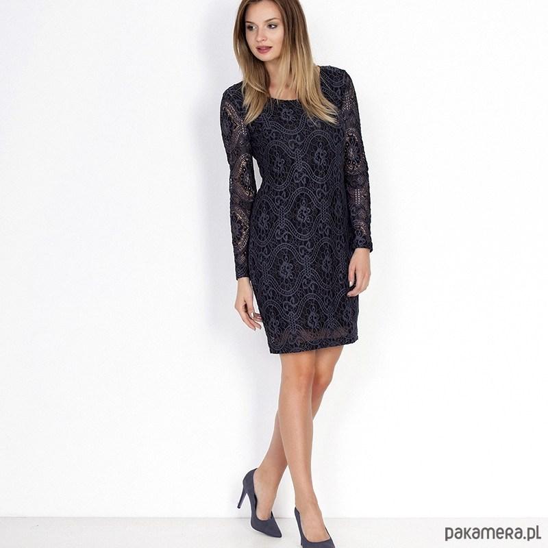 Koronkowa elegancka sukienka