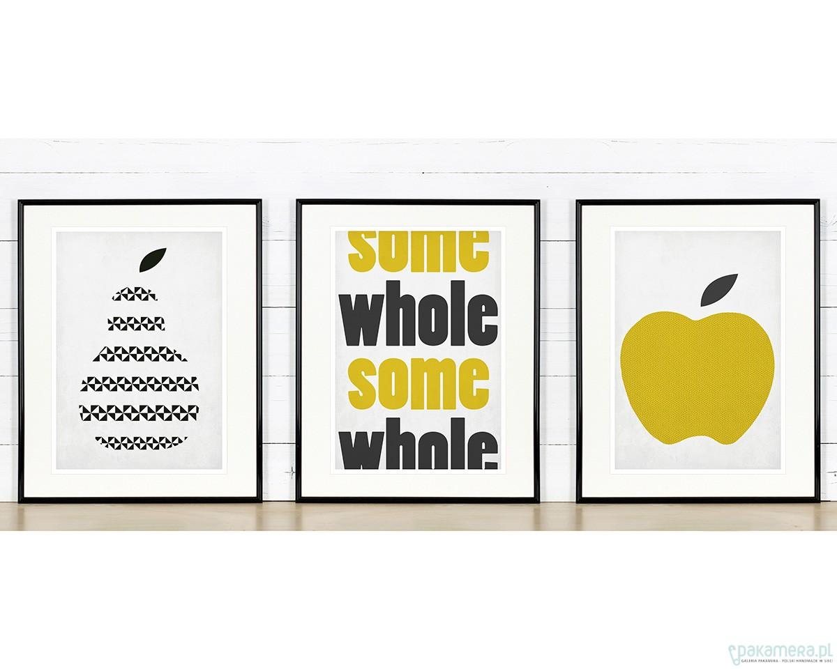 Zestaw Plakatów Do Kuchni 3xa3 Jabłko Gruszka Pakamerapl