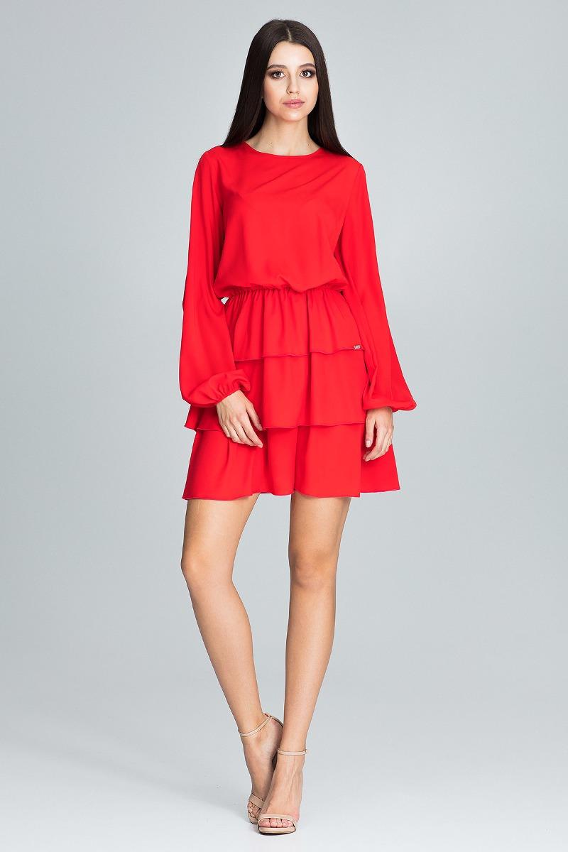 Sukienka mini m601 czerwony