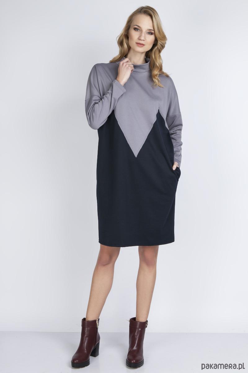 Sukienka, SUK134 szary