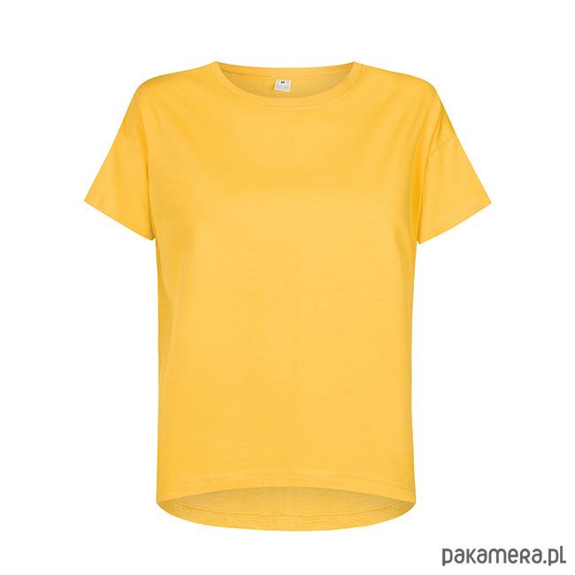 T-shirt basic żółta