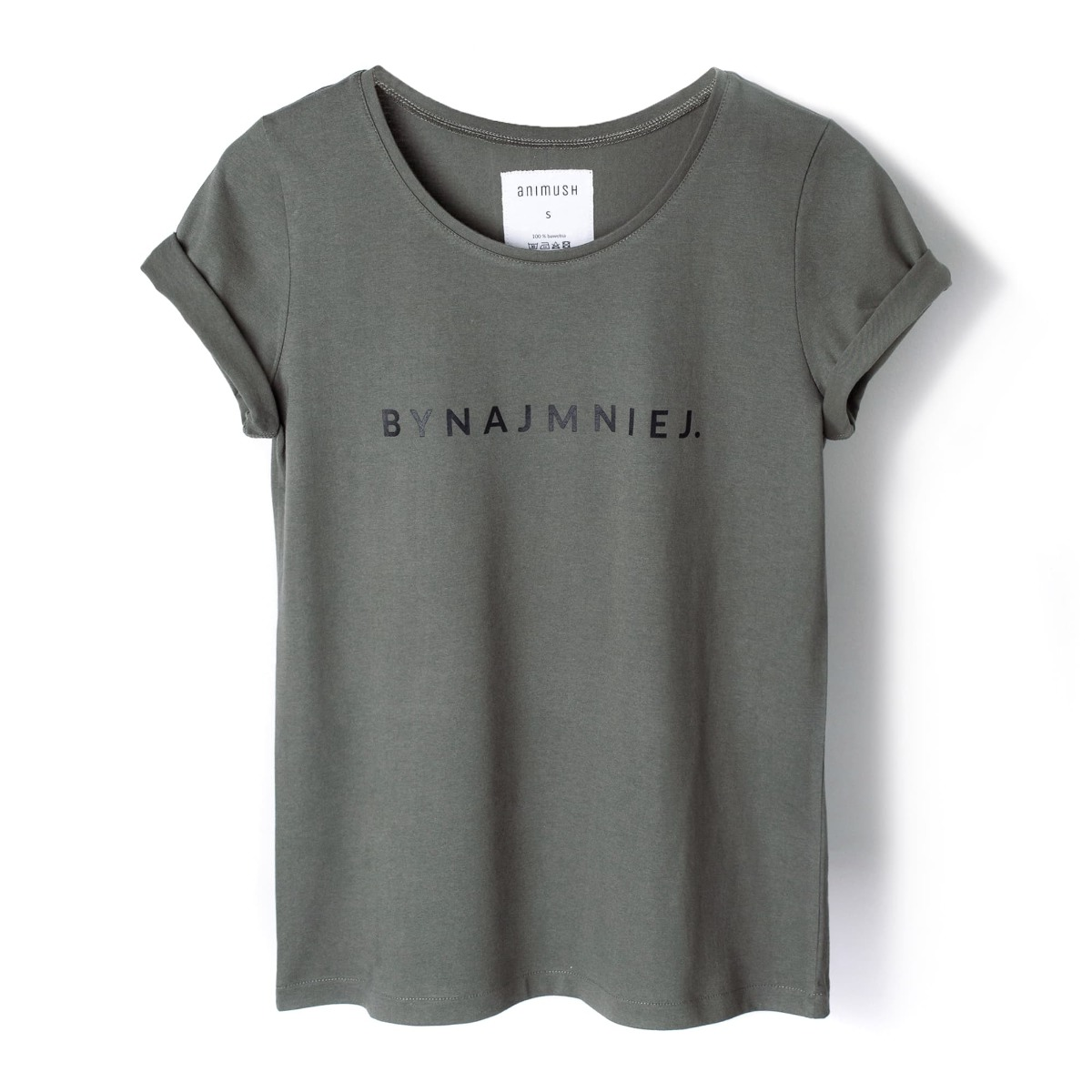 T-shirt khaki BYNAJMNIEJ.