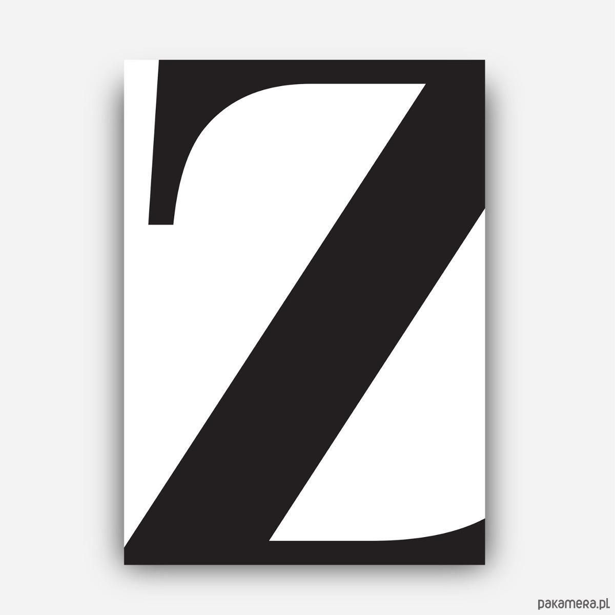 Plakat Typograficzny Litera Z Plakaty Pakamerapl