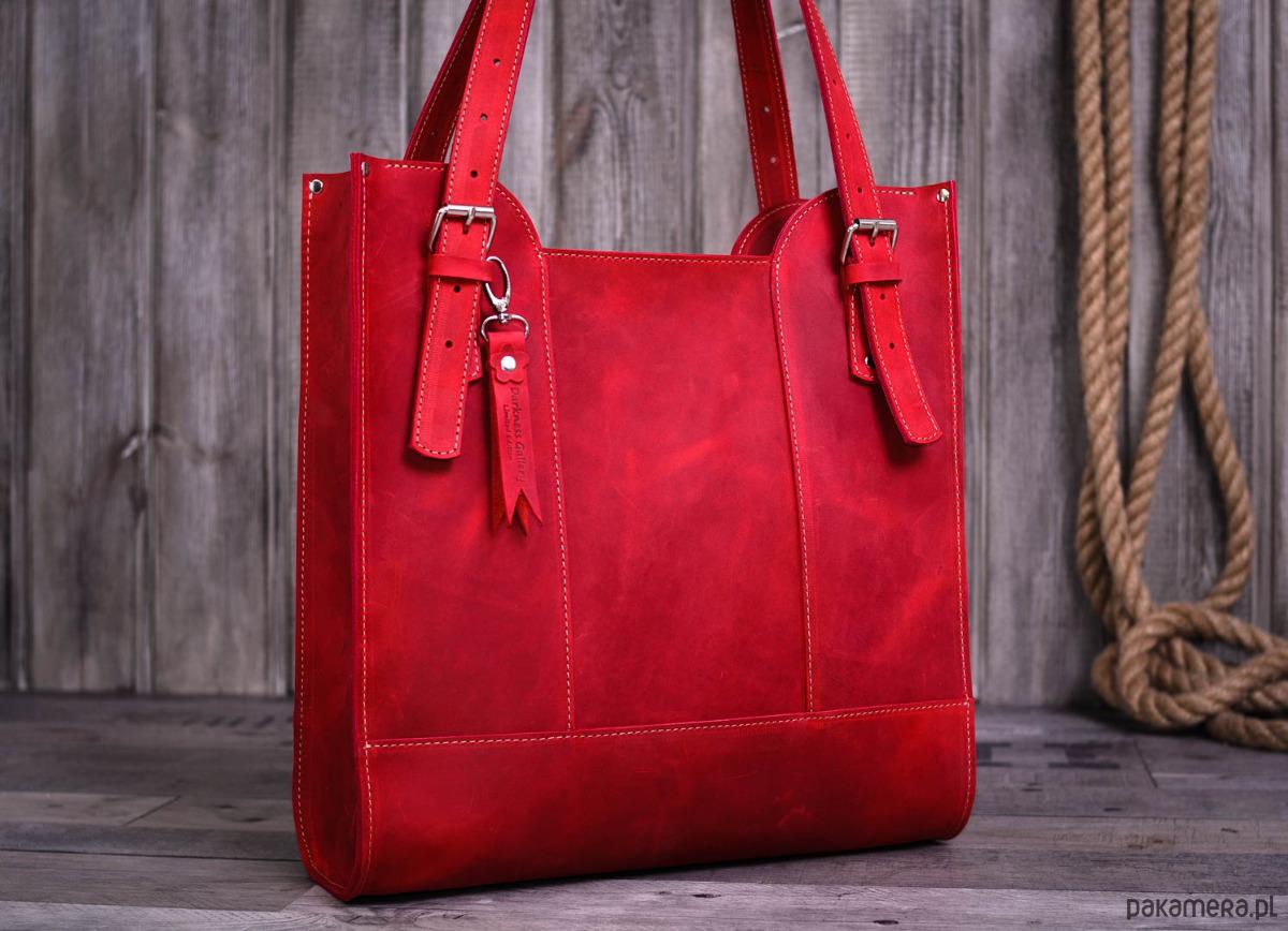 a7d2de2e45b69 torby na ramię - damskie-Ręcznie robiona skórzana torebka