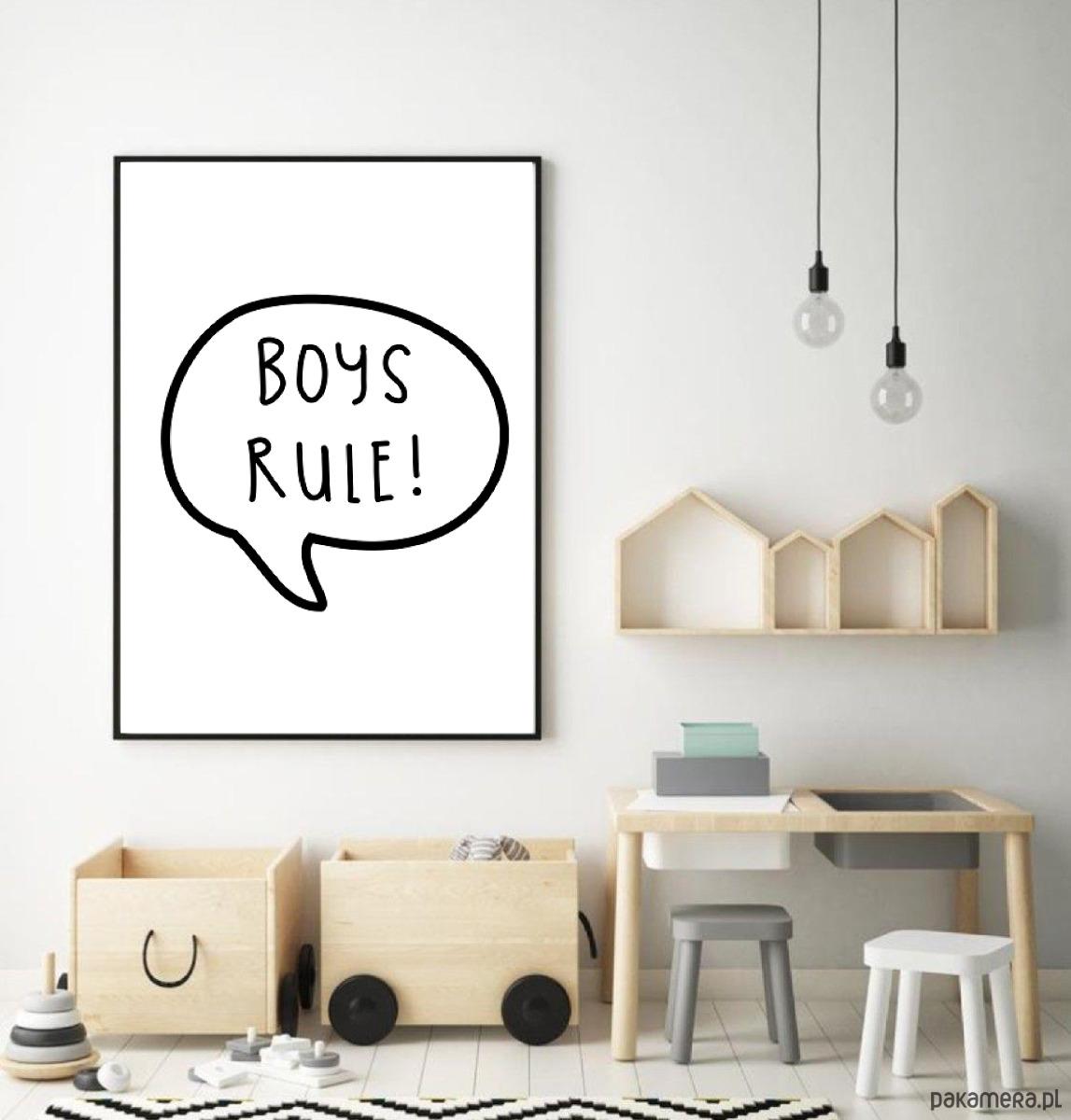 Plakat Do Pokoju Dziecka Dla Chłopca Boys Rule Pakamerapl