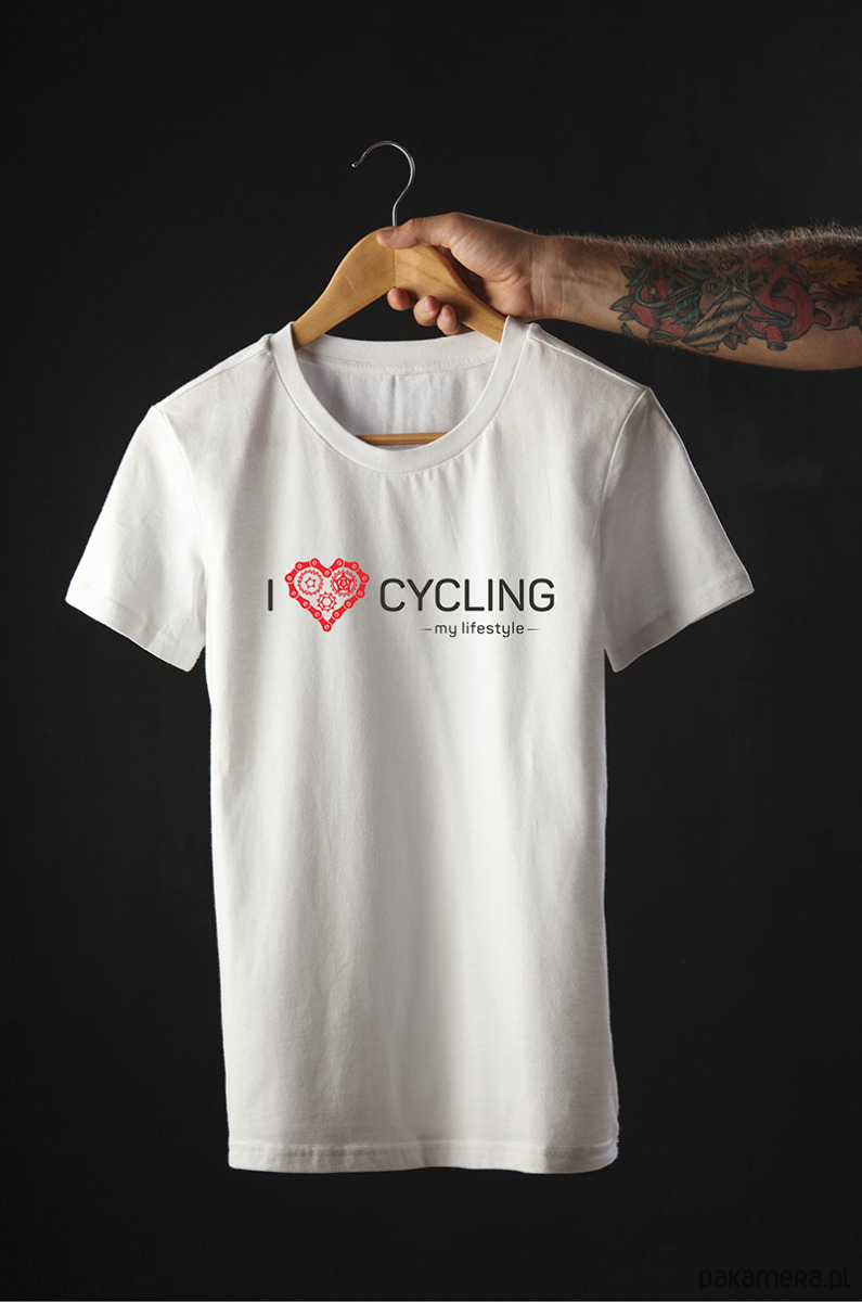 Koszulka T Shirt I Love Cycling My Lifestyle Moda T Shirty