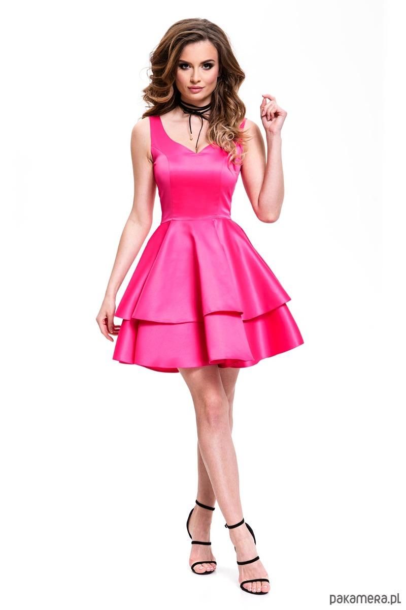 Sukienka z koła amarantowa