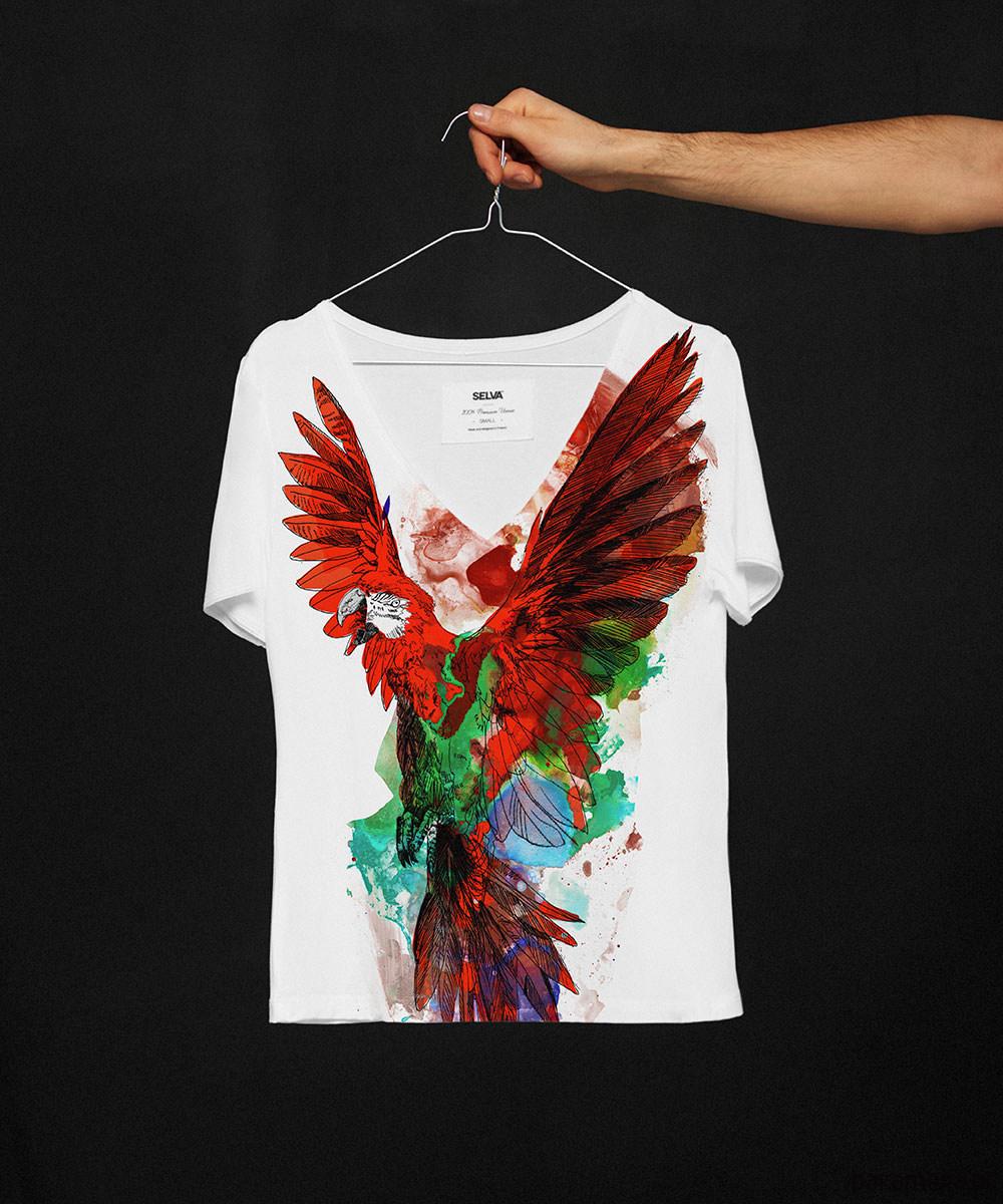 Red ara t-shirt no.2 - SELVA