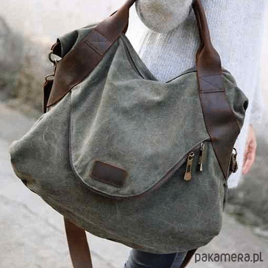 a62681c4c6bdc TD3 MARK VINTAGE™ bawełna skóra - torby na ramię - damskie - Pakamera.pl