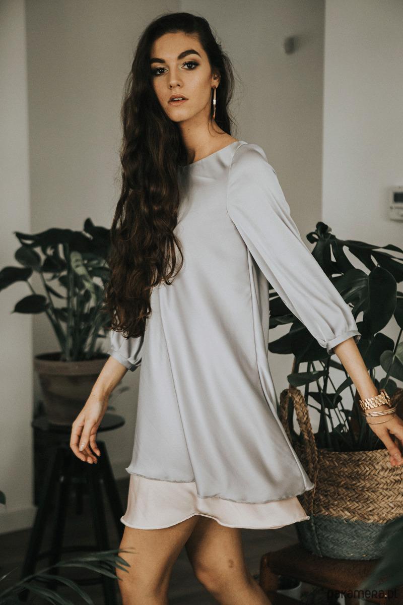 Warstwowa sukienka 'Silver waves'
