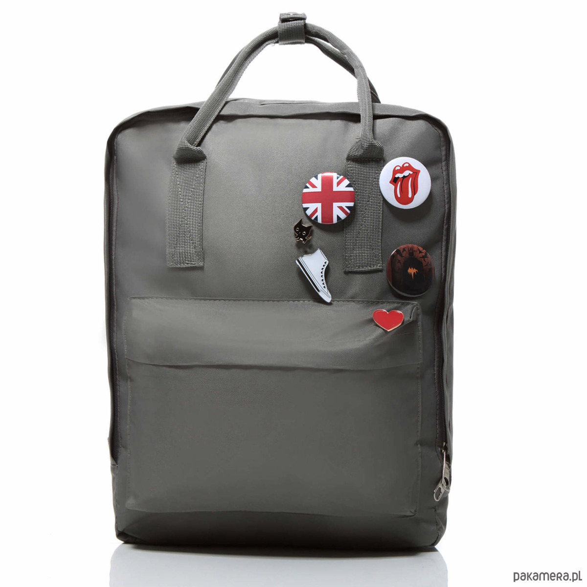 5580db32cab85 Plecak vintage damski materiałowy szary Baginc - plecaki - Pakamera.pl