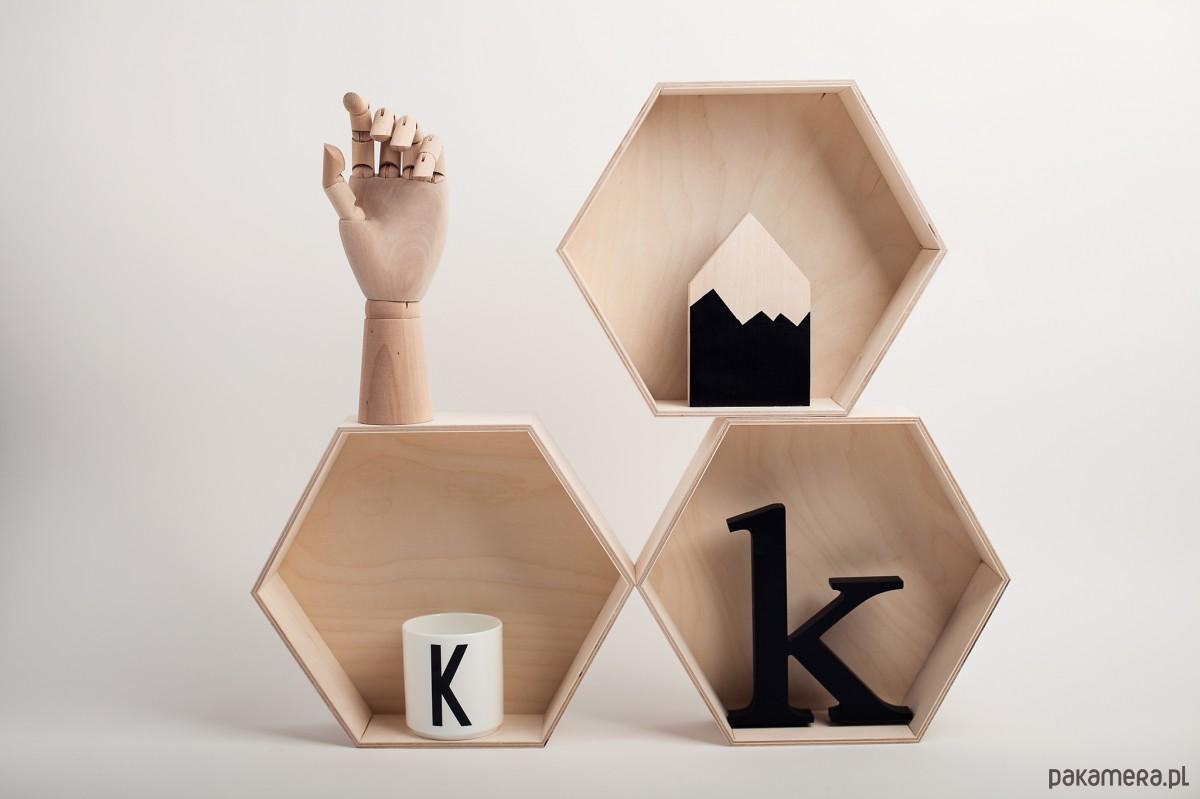 Polka Szesciokąt Hexagon Skandynawki Styl Pakamerapl