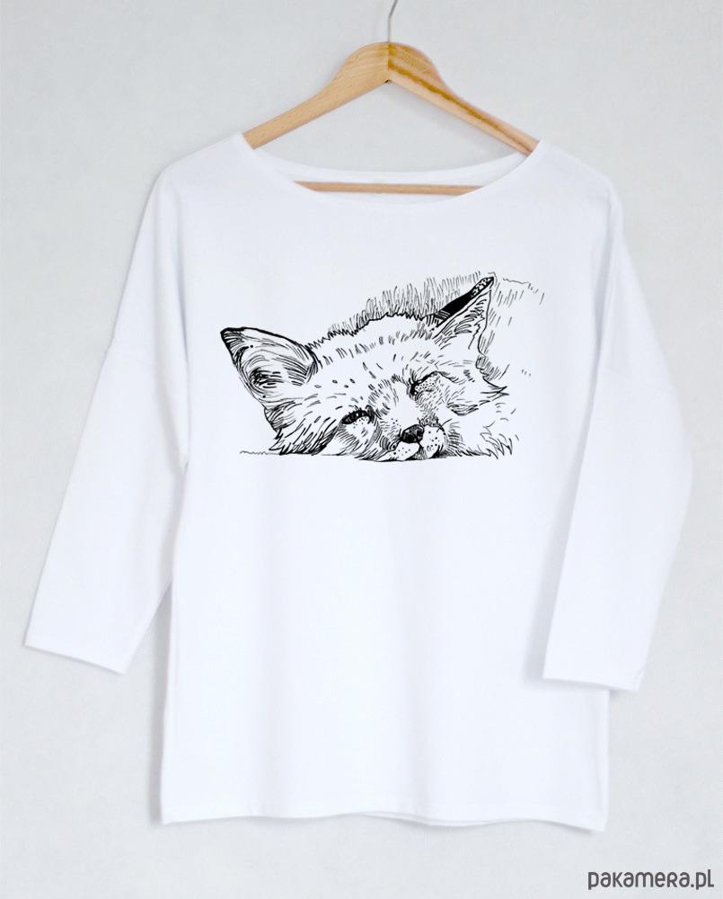 0651bfa5f86f75 LIS bluzka oversize bawełniana biała - bluzki - kimonowe - Pakamera.pl