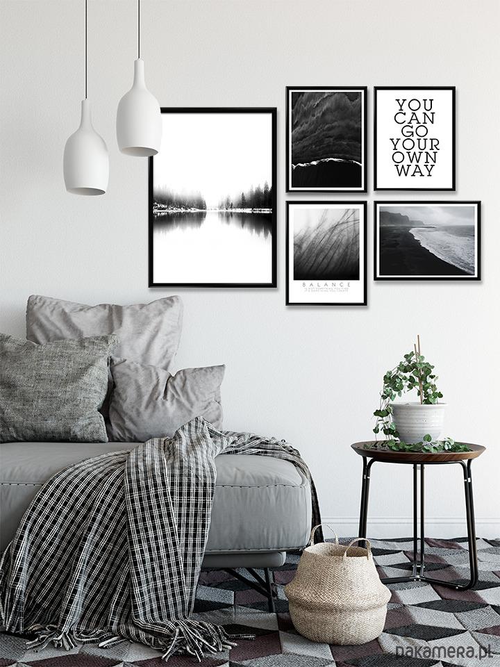 Czarno Biały Zestaw Plakatów Pakamerapl