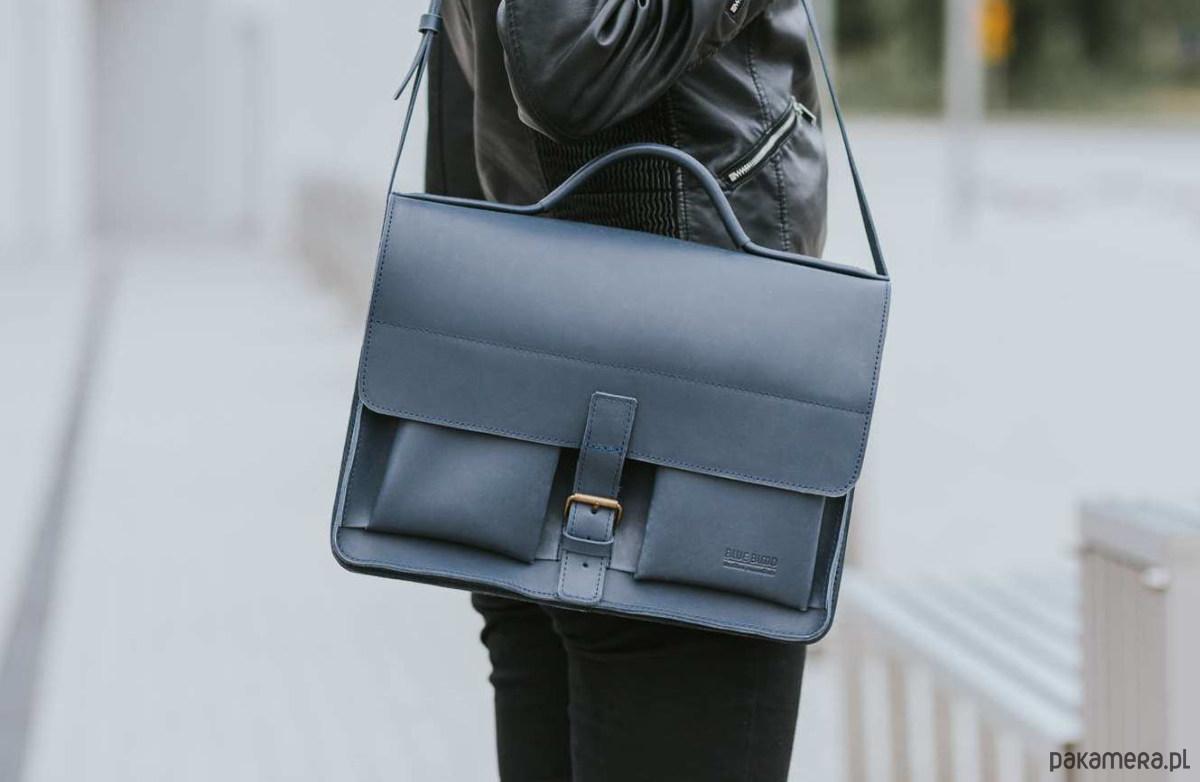 fca743cfe877 Aktówka listonoszka skórzana torebka A4 - torby na ramię - damskie ...