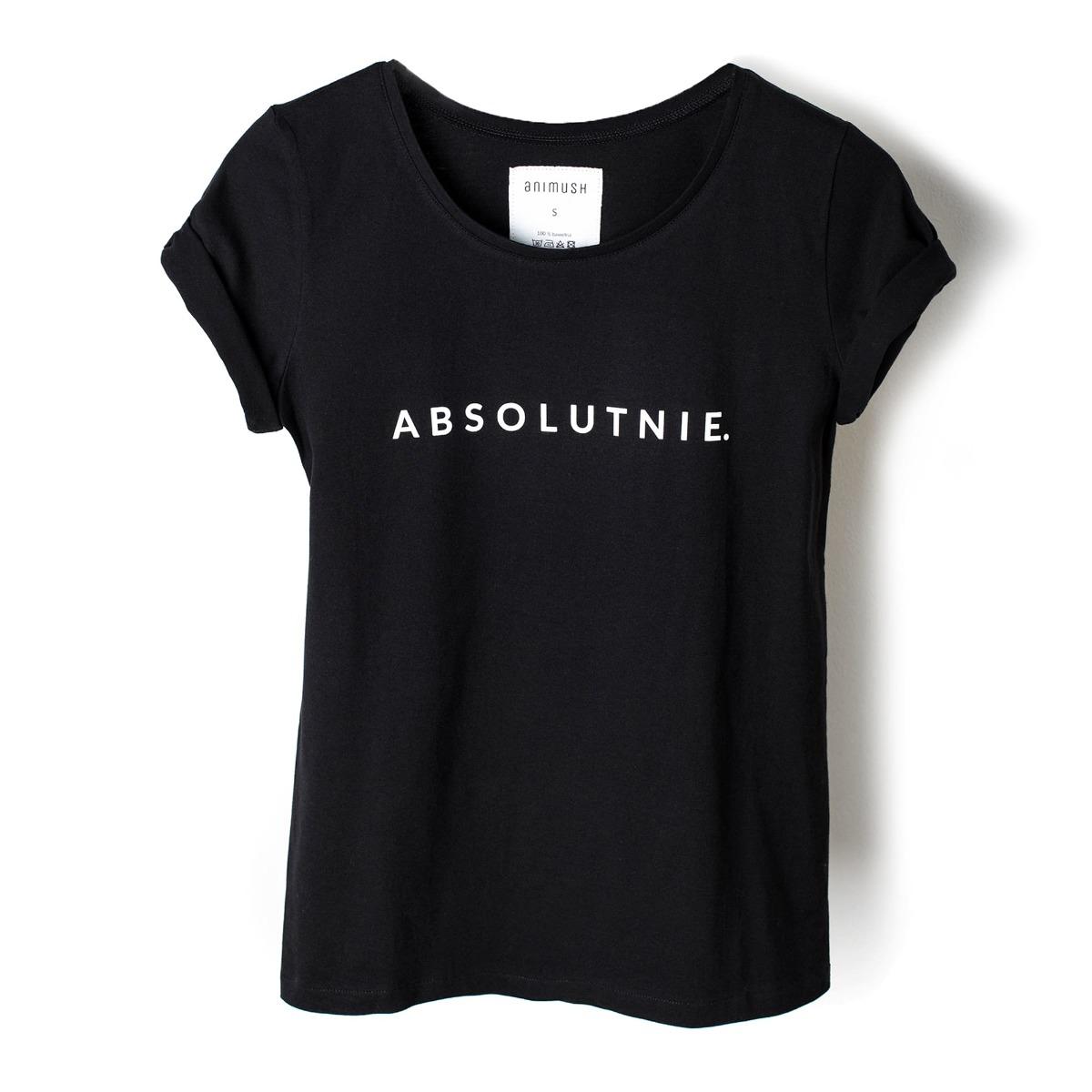 T-shirt czarny ABSOLUTNIE.