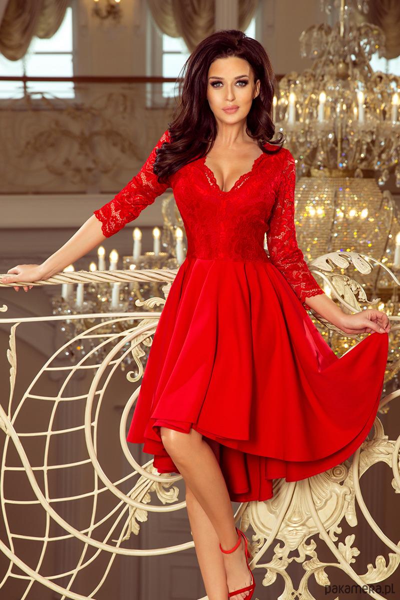 29d23d6559 210-6 NICOLLE sukienka z dłuższym tyłem - sukienki - midi - Pakamera.pl