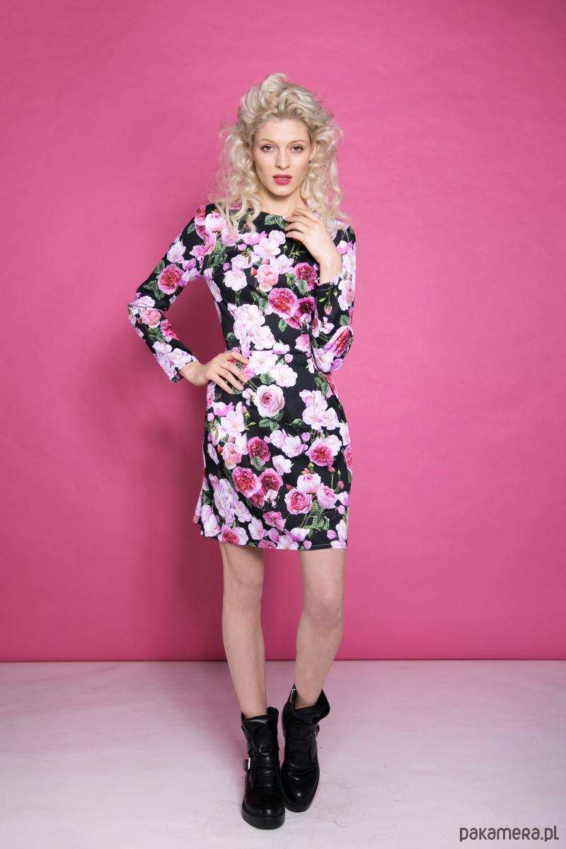 Kolorowa sukienka w kwiaty LeMat