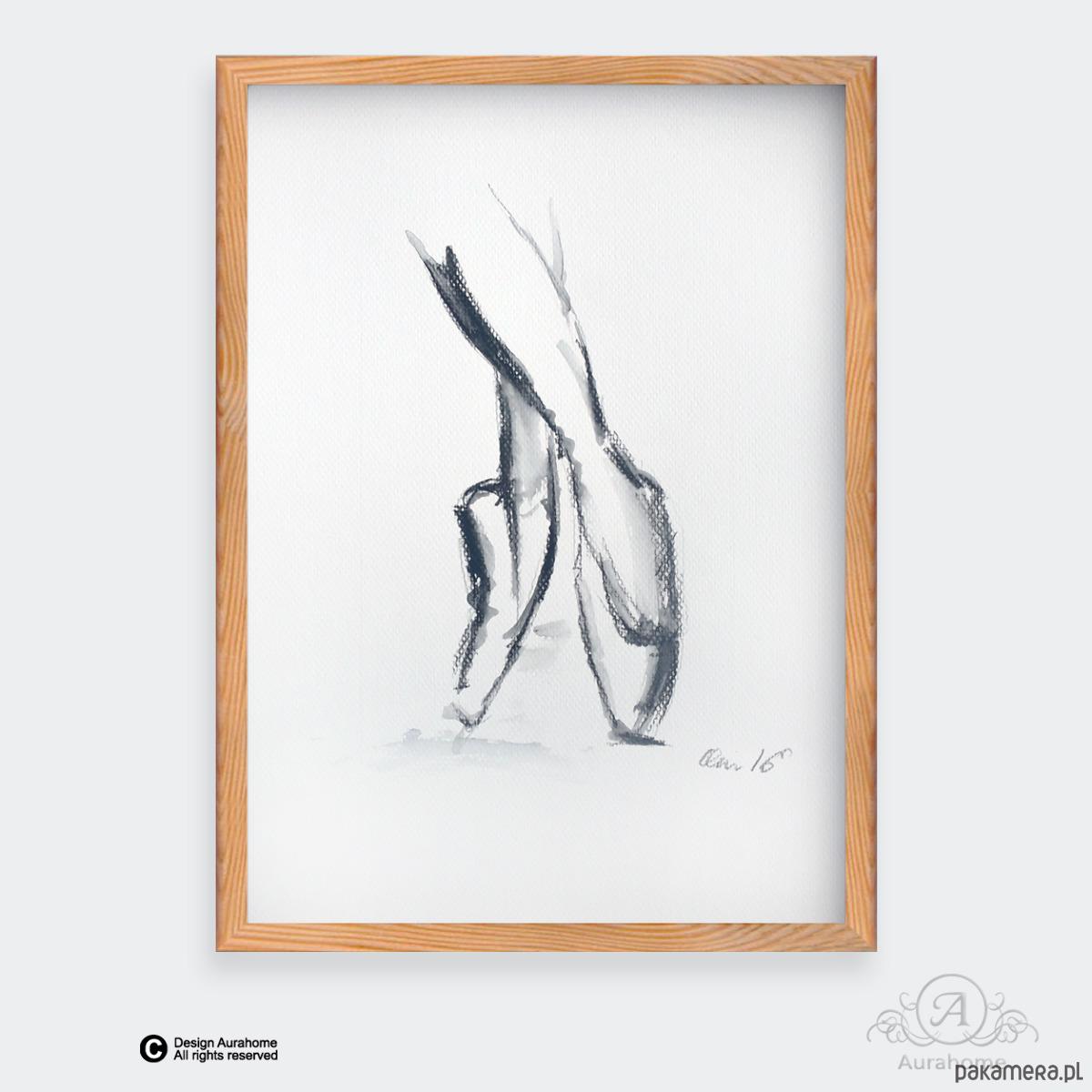 Balet 1 Akwarela A4 Rysunek Ballet Art Pakamerapl