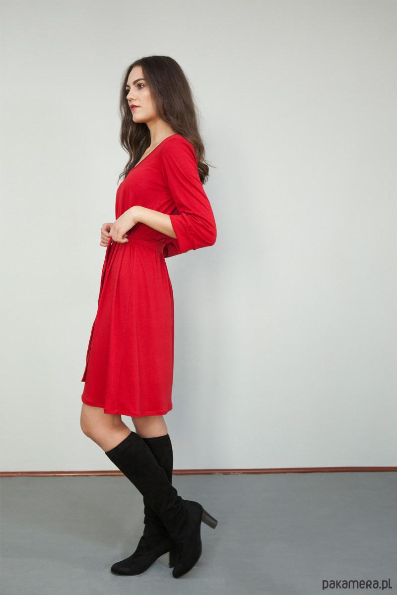 Sukienka Prawdziwy romans czerwona