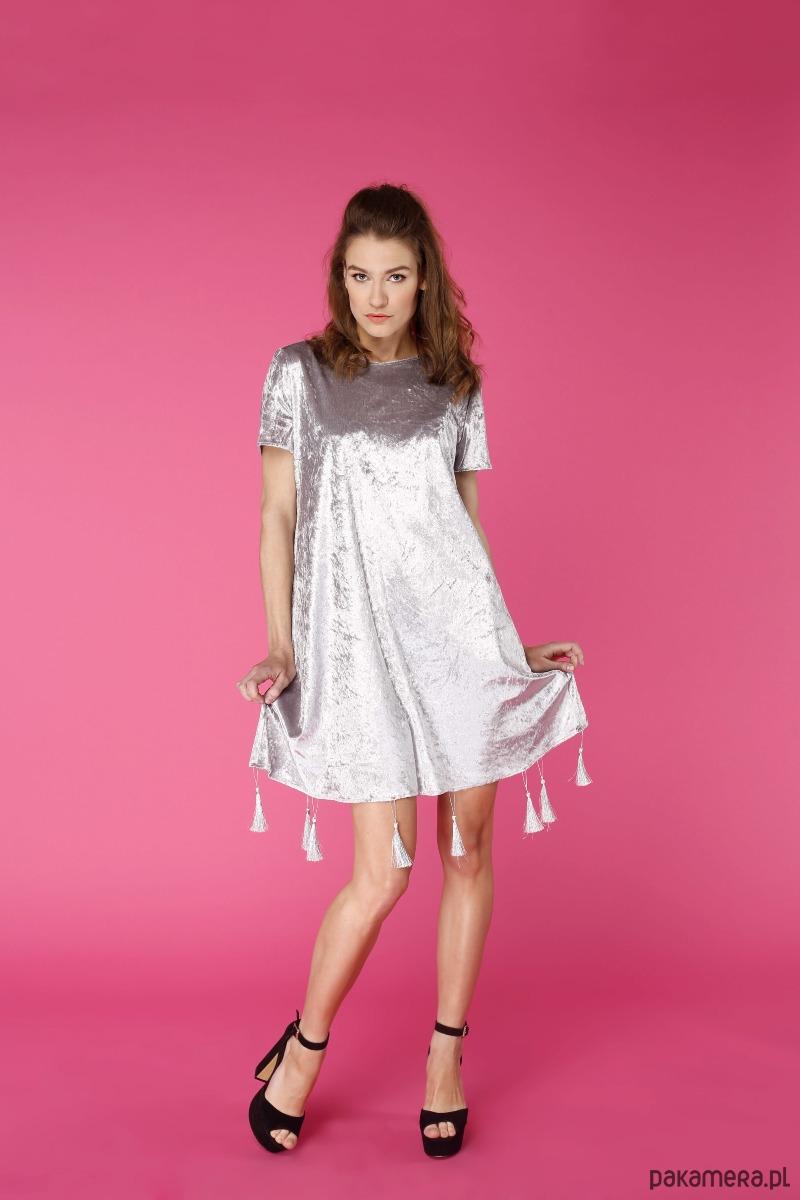 Sukienka trapezowa Srebrna góra