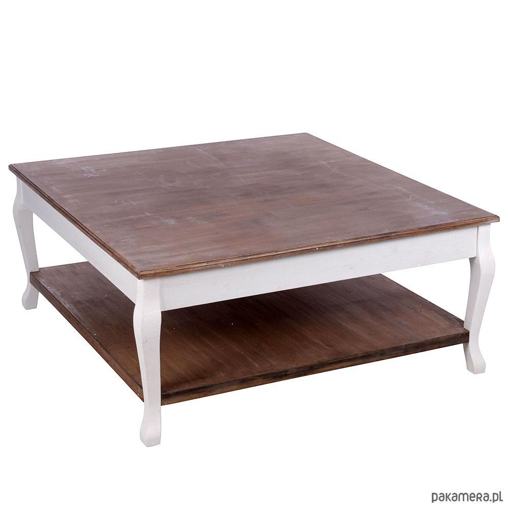 Stolik Kawowy Drewniany Z Półką Pakamerapl