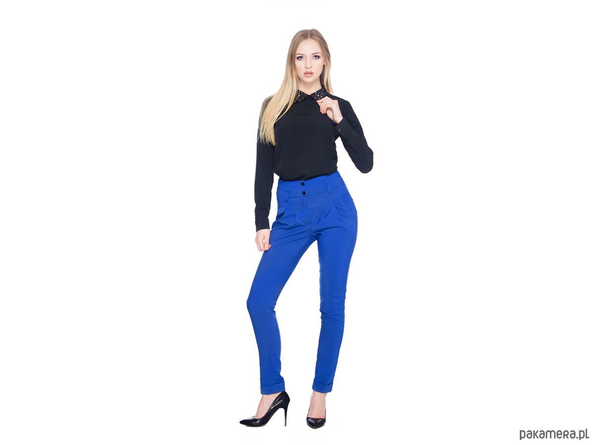 ad4c570216f0 Spodnie z podwyższonym stanem SL4003BL - spodnie - inne - Pakamera.pl