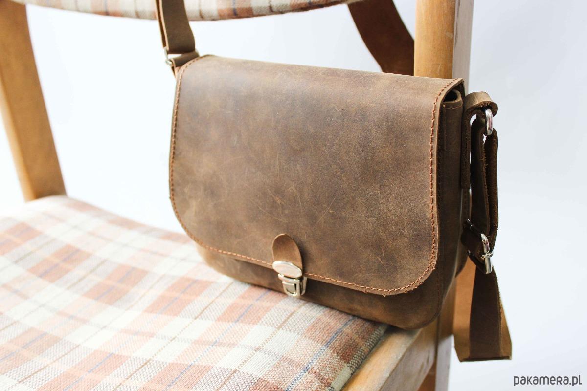 Brązowa torebka na ramię Koziel