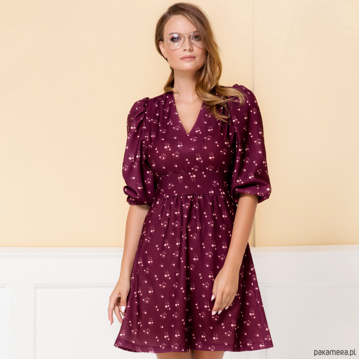 Sukienka Sofi w drobny wzór