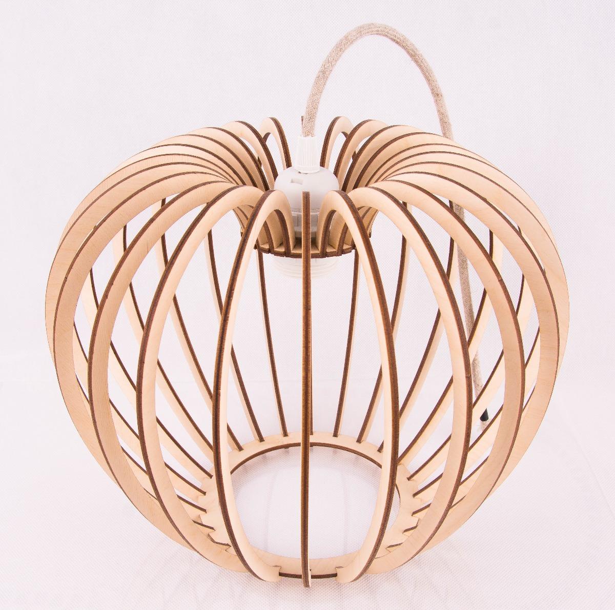 eb55a407cadc Lampa sufitowa wisząca kula Industrialna Sklejka - lampy - wiszące ...