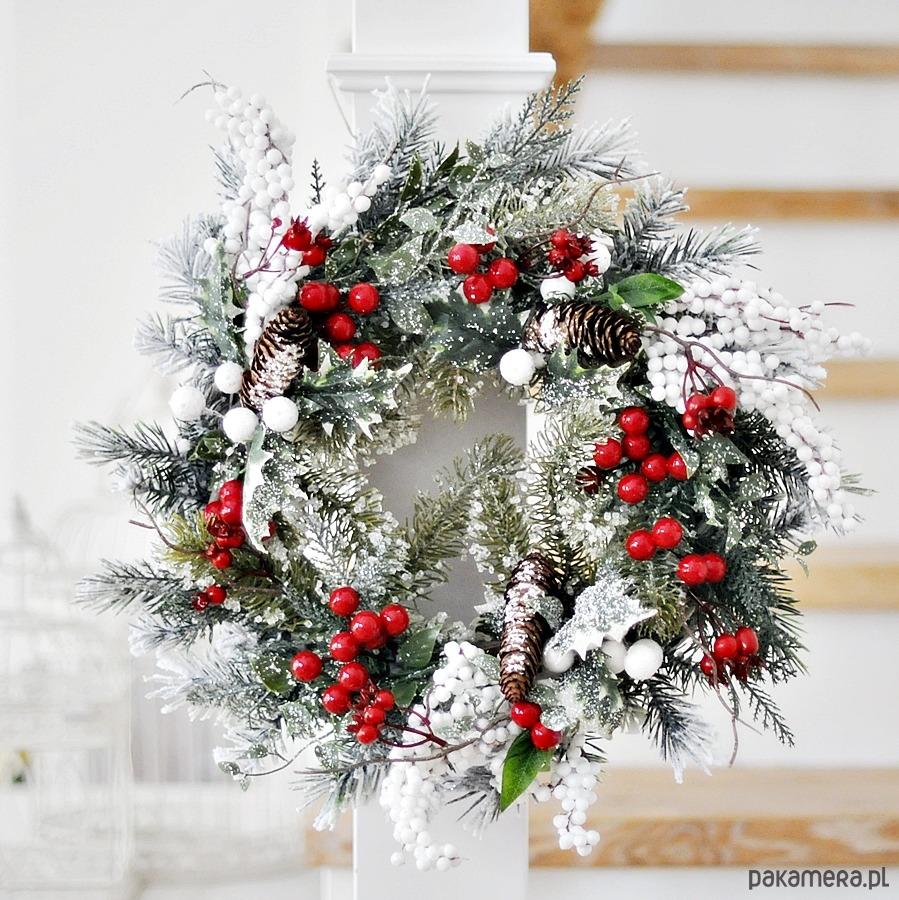 świąteczny Zimowy Wianek Na Drzwi Pakamerapl