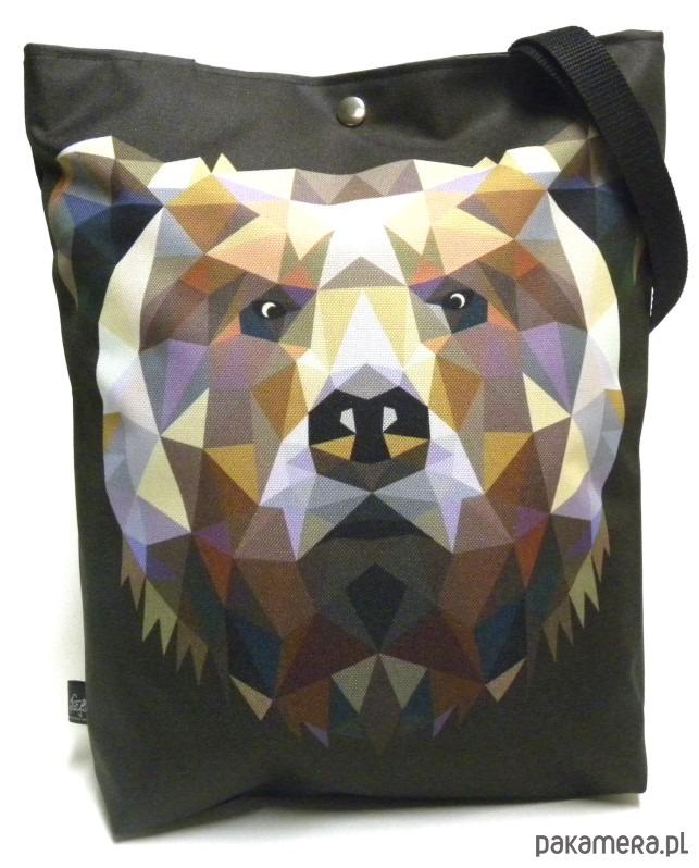 71d044e08a6fa Duża torba z geometrycznym niedżwiedziem - torby XXL - damskie ...