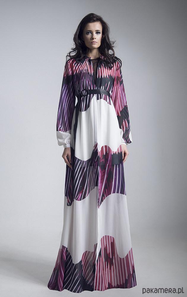 Suknia z autorskiej tkaniny