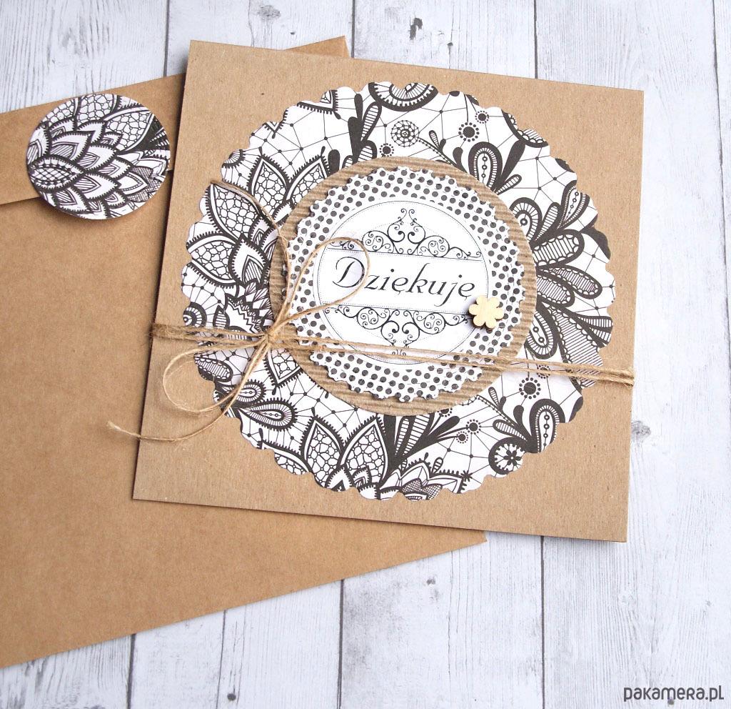 5b22a7a187f27c kartki okolicznościowe - scrapbooking-DZIĘKUJĘ :: kartka handmade ::  PODZIĘKOWANIE