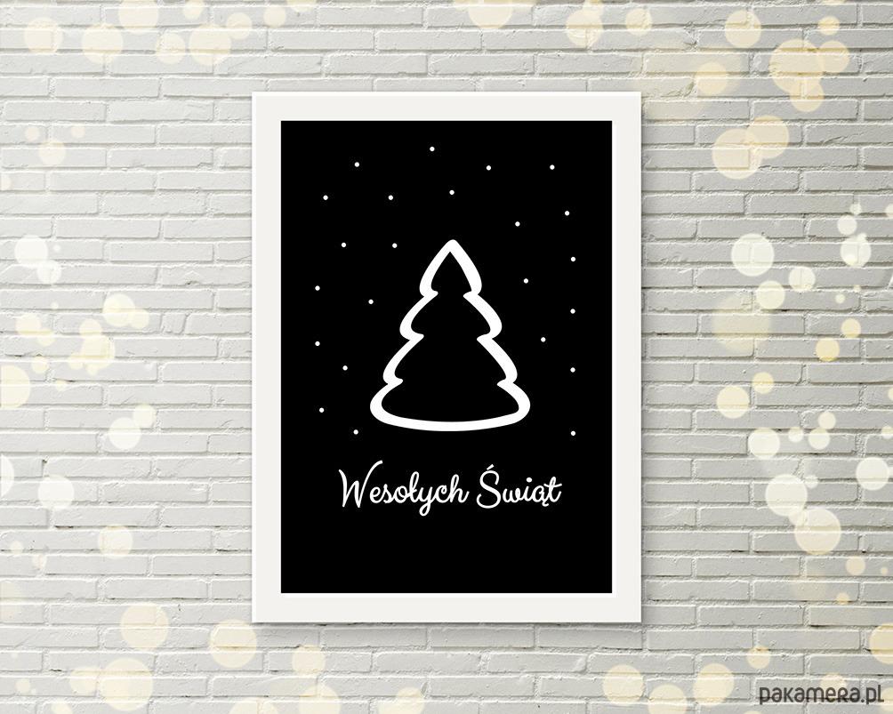 Plakat Swiateczny A4 Choinka Boze Narodzenie Dekoracje Pakamera Pl