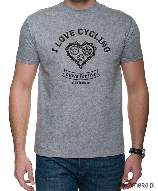 Koszulka T Shirt I Love Cycling Moda T Shirty Męskie