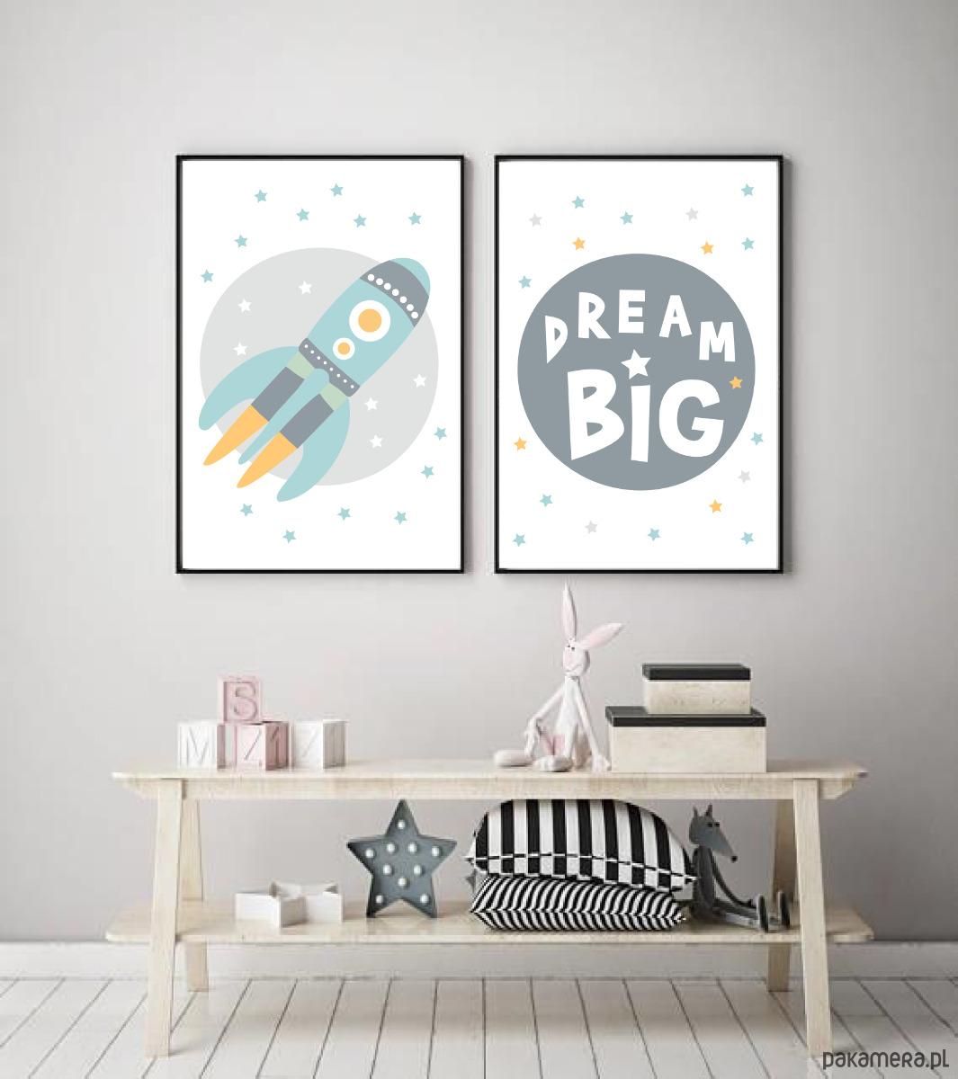 Plakaty Do Pokoju Dziecka Dla Chłopca Rakieta Pakamerapl