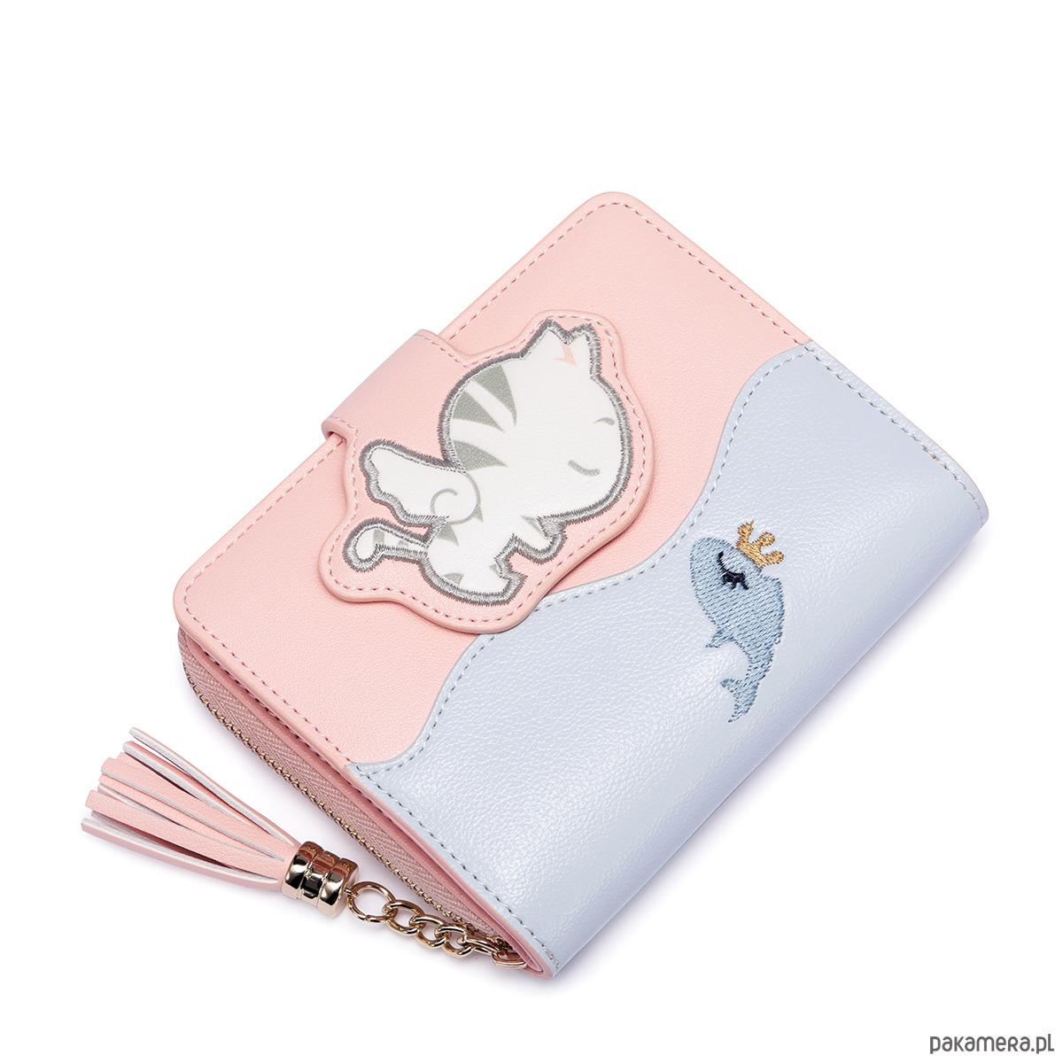2b6e88ab0c62d1 JUST STAR Komiksowy krótki portfel Różowy - portfele - damskie ...