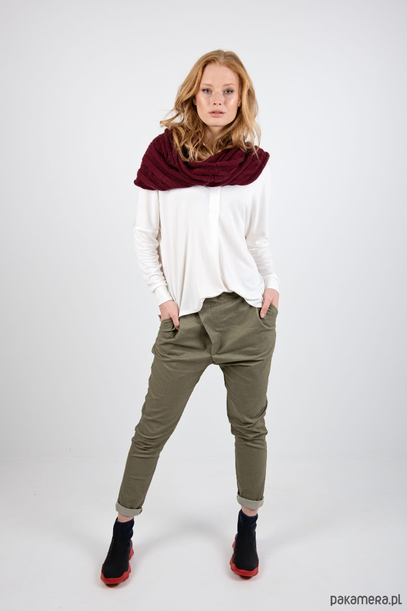 MIA PANTS Spodnie damskie jeans khaki