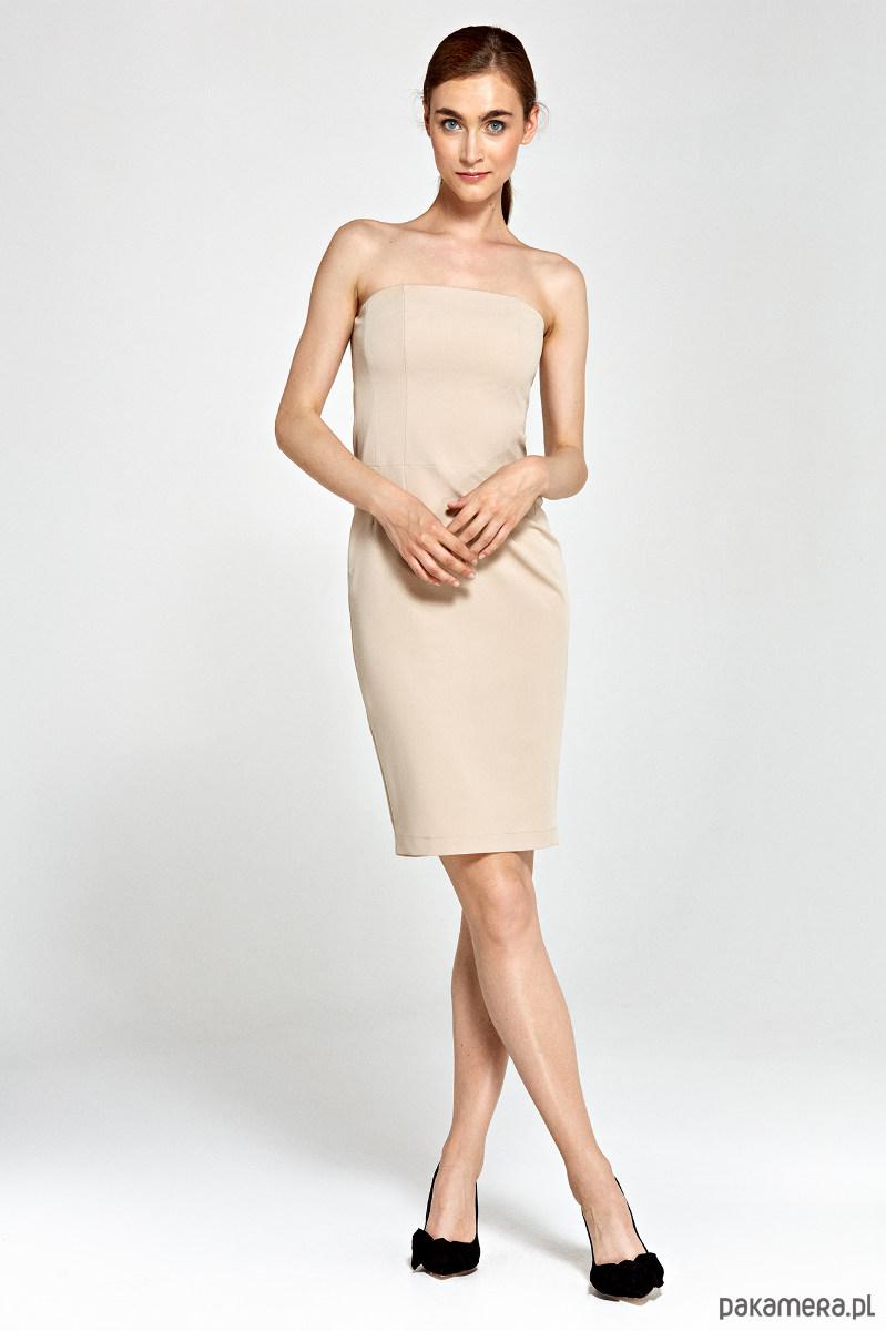 Sukienka tuba s90 - beż