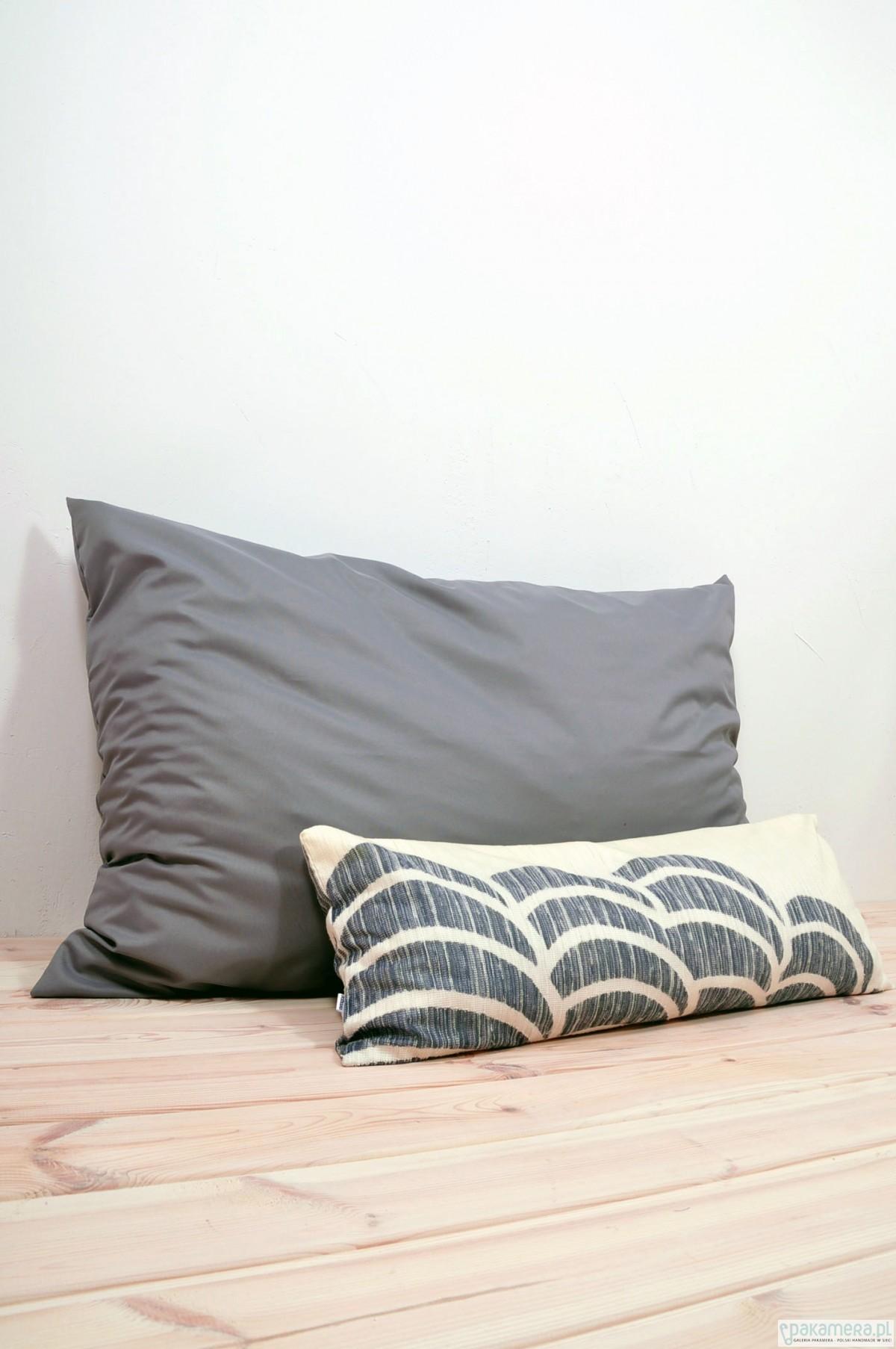 Wielka Poduszka Dekoracyjna 120x80 Szary Tekstylia Poduszki