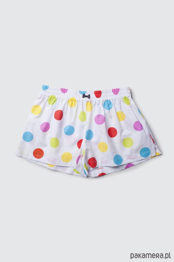 8213655a3acec7 Moda - bielizna - piżamy-Spodenki do spania BOKSERKI damskie KROPKI ...