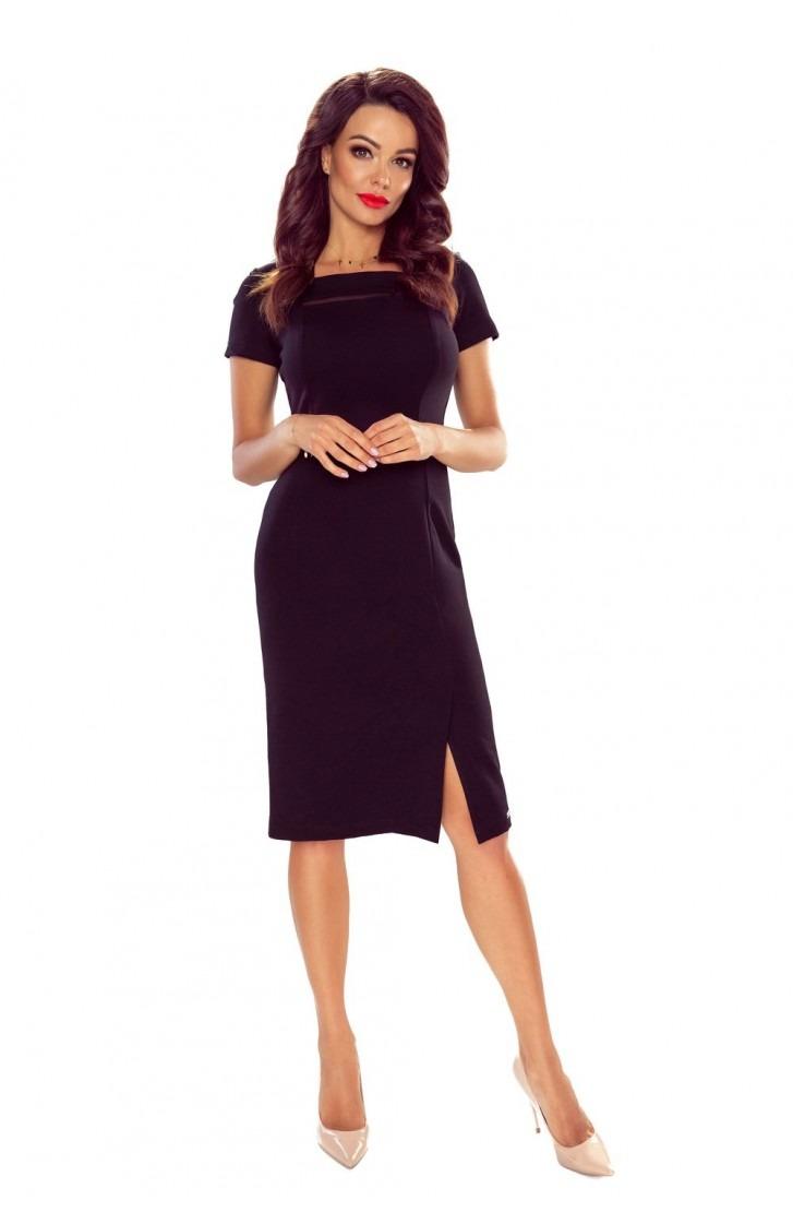 Eegancka sukienka z siateczkową wstawką
