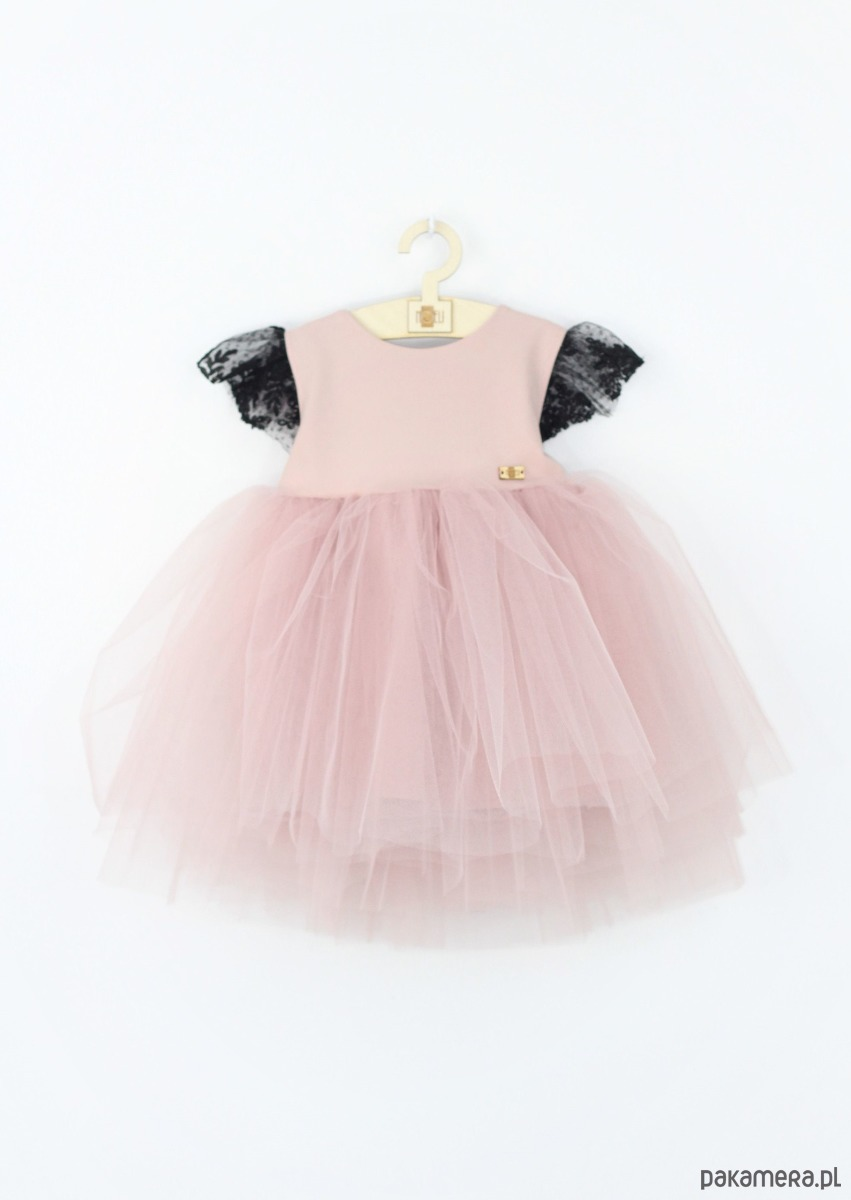 6e11805f8e Sukienka tiulowa z kokarda i haftem - dziewczynka - sukienki ...