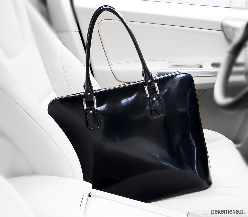 f943e6981639c torby na ramię - damskie-Elegancka torebka damska, lakier Oliwia black