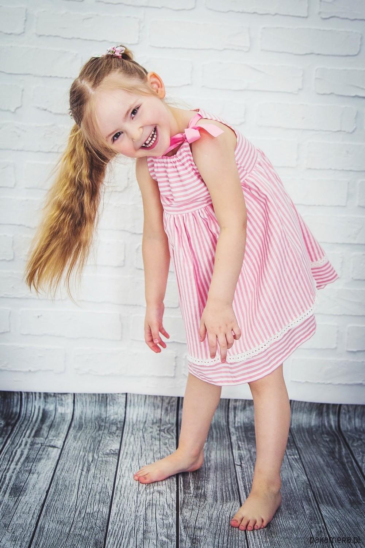 eee79b11c4 dziewczynka - sukienki-Bawełniana sukienka