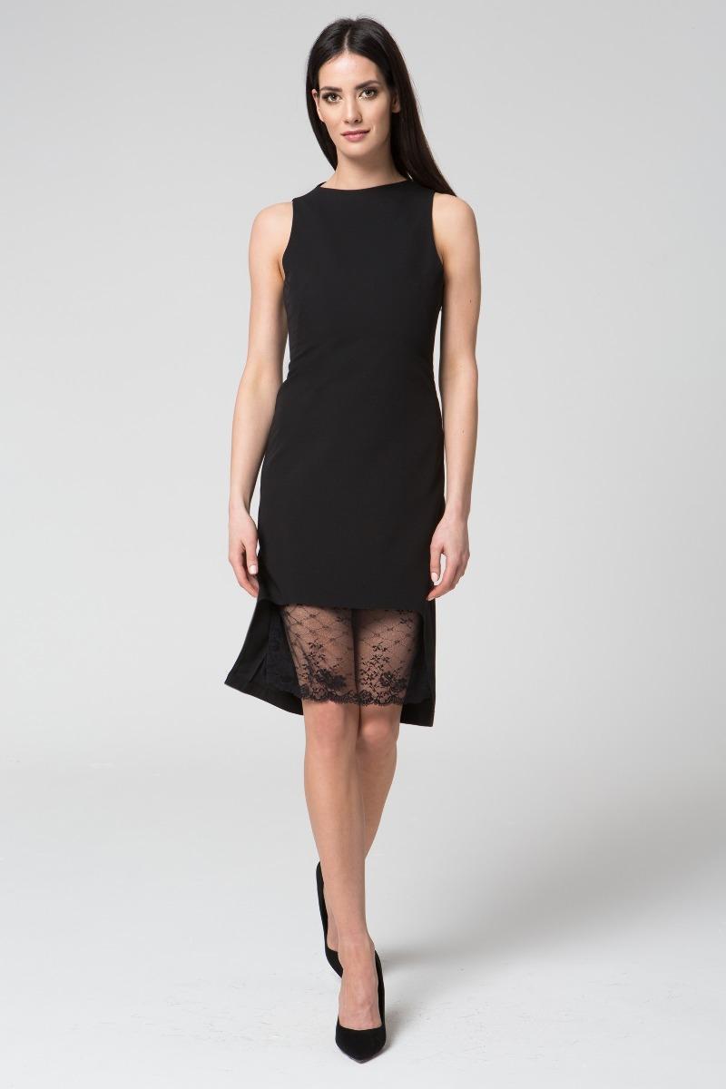 Sukienka wycieńciem z koronki M041 Czarna