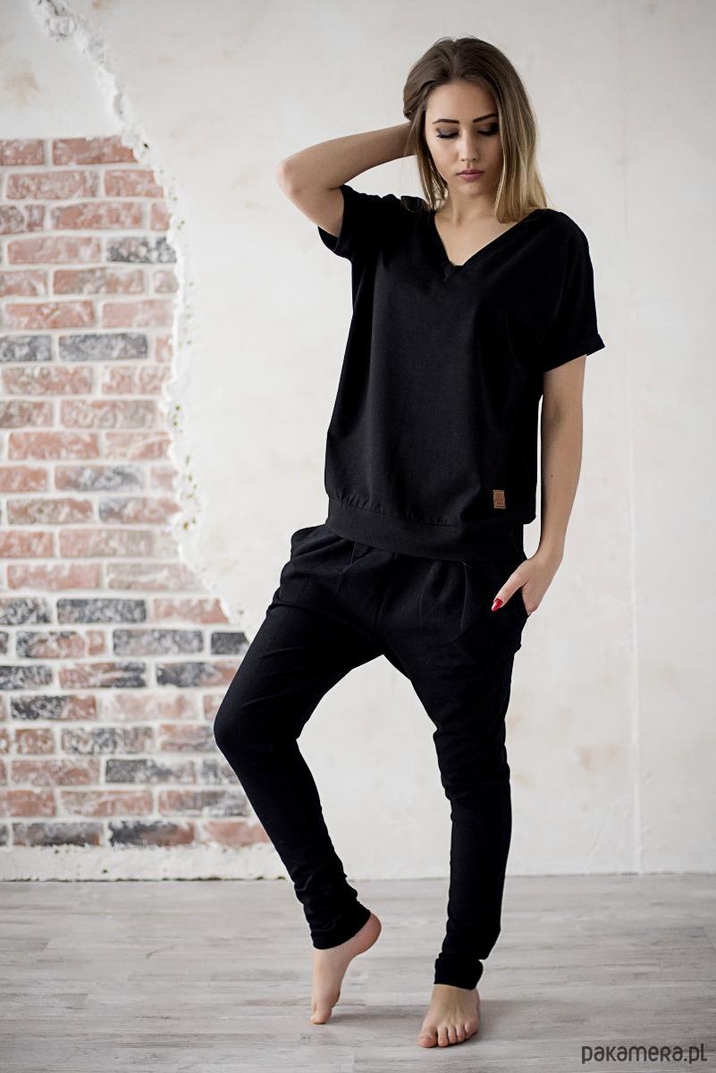 Spodnie damskie CLASIC - czarne