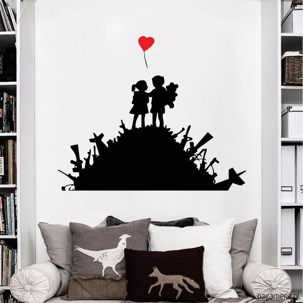 Naklejka Para Ma Smietnisku Street Art Banksy Tapety Pakamera Pl