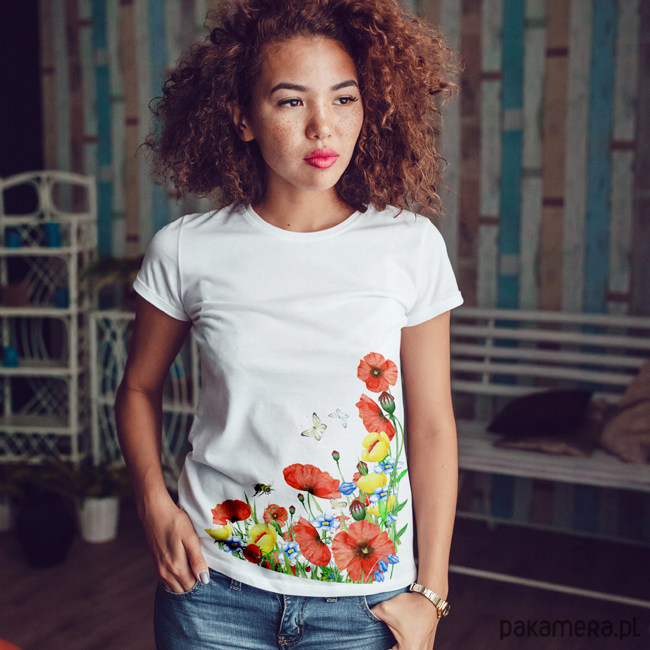 MAki dopasowana koszulka tshirt damski